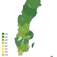 Pappaindex - interactive map of gender equality in Sweden