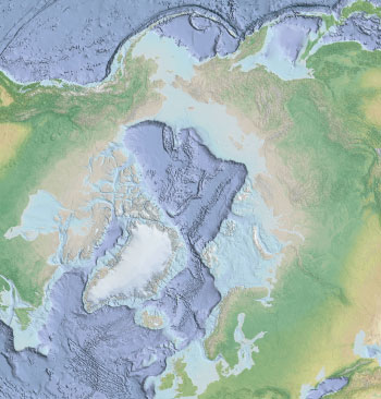 Bathmetry of the Arctic Ocean