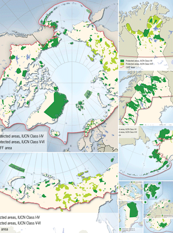 Protected areas in the Arctic countries