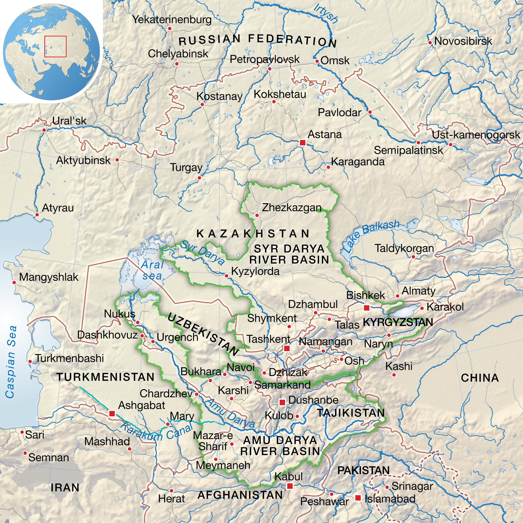 Tian Shan Mountains Map   Pics   Download  