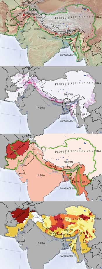 Maps on human development in the Himalaya-Hindu Kush region