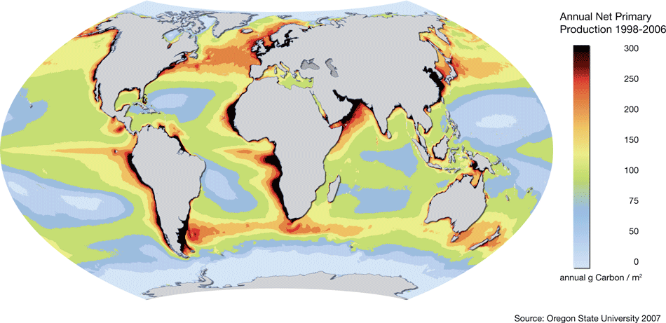 World map of ocean productivity gumiabroncs Images