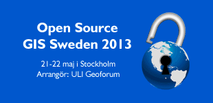 Open Source GIS Sweden 2013
