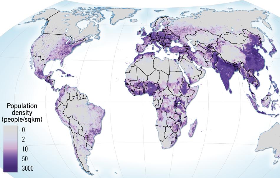 Population Density - Sweden map population density