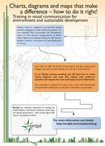 Marketing flyer:Charts, diagrams and maps that make a difference – how to do it right! - Training in visual communication for environment and sustainable development