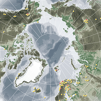 Sample map prepared for the UArctic Newsletter 'Shared Voices - Special edition on Thematic Networks' 2009