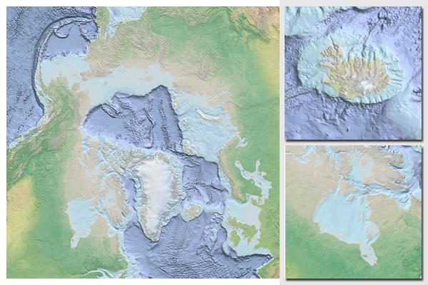 Arctic Ocean Basemap - Oceanographic map